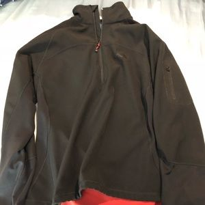 Black The North Face Pullover w/Red Accent